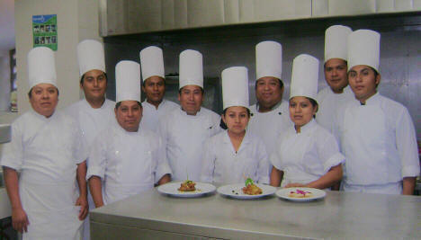 Mayan Cooking Statt at Hacienda Chichen -  Chef Josue Cime and his Cooking Staff