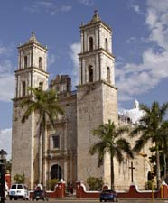 Valladolid Cathedral is one of Yucatan's Colonial landmarks.