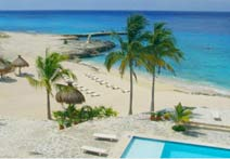 Club Cozumel Caribe private beach front, ideal for scuba diving and swimming