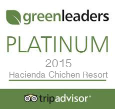 In 2015, TripAdvisor awarded Hacienda Chichen Resort with its top Green-Leaders Platinum Certification for the hotel's sustainable practices