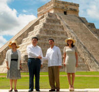 China's President Xi Jinping and Mexico's President visited Chichen Itza and celebrated their Private Gala event at Hacienda Chichen Resort this June 2013